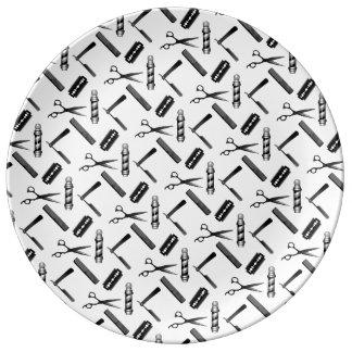 Barber's Shop Pattern Plate