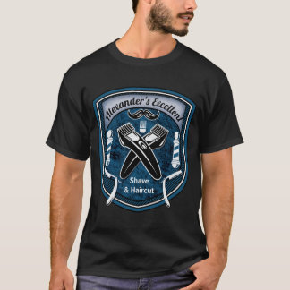 Barbershop Barbers Pole Shave & Haircut Stylist T-Shirt