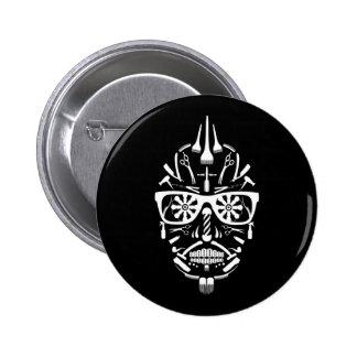 barbershop calavera 6 cm round badge