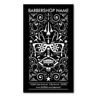 barbershop dia de los muertos Magnetic business card
