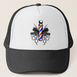 Barbershop Logo Trucker Hat