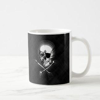 Barbershop Mirror Skull and Crossbones Basic White Mug