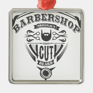 Barbershop originals vintage metal ornament