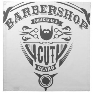 Barbershop originals vintage napkin