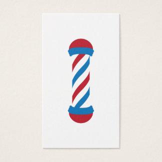 barbershop pole referral business card