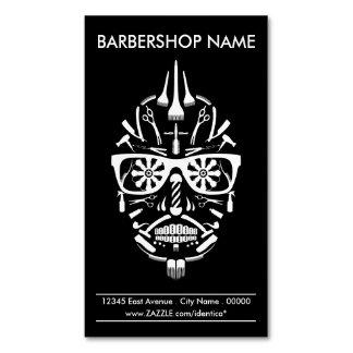 barbershop punk calavera Magnetic business card