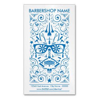 barbershop punk skull Magnetic business card