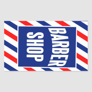 Barbershop Rectangular Sticker