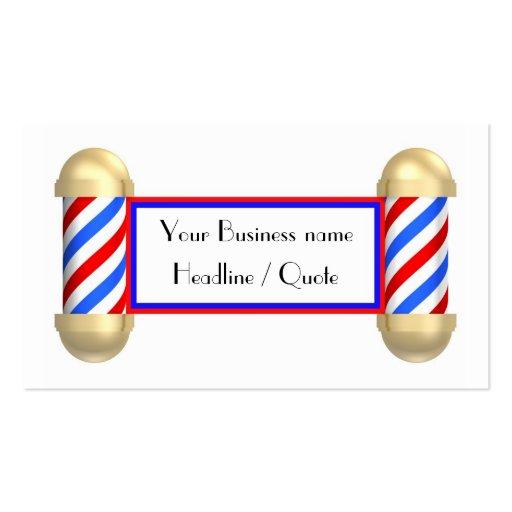Barbershop scroll business card template