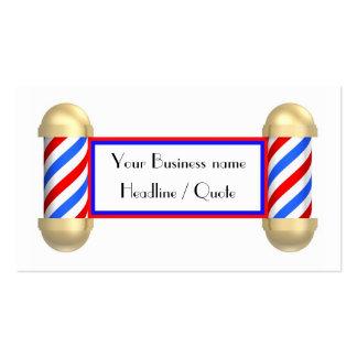 Barbershop scroll pack of standard business cards
