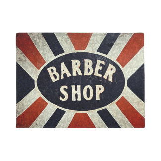 Barbershop Sign 2 Doormat