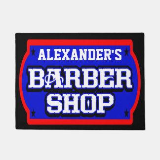 Barbershop Sign Personalise Doormat