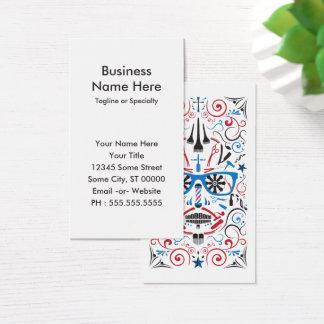 barbershop sugar skull business card