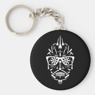 barbershop sugar skull key ring