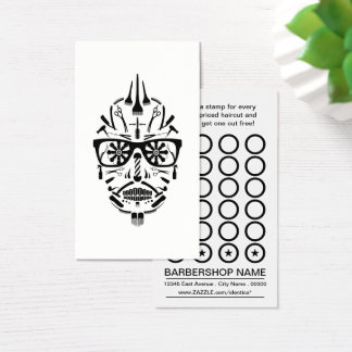 barbershop sugar skull stamp card