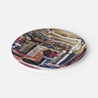 Barbershop With Coat Rack 7 Inch Paper Plate