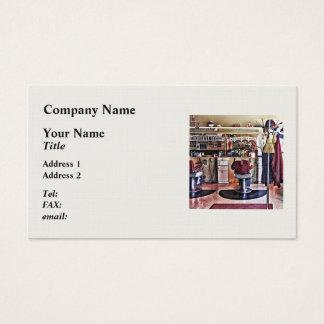 Barbershop With Coat Rack Business Card