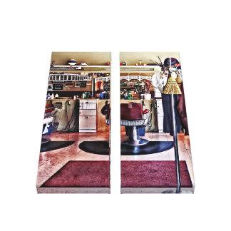 Barbershop With Coat Rack Canvas Print