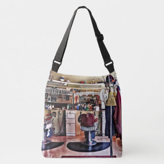 Barbershop With Coat Rack Crossbody Bag