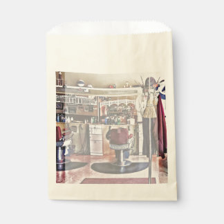 Barbershop With Coat Rack Favour Bags