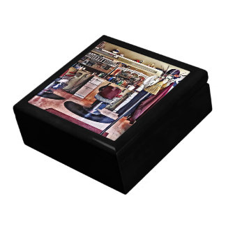 Barbershop With Coat Rack Large Square Gift Box