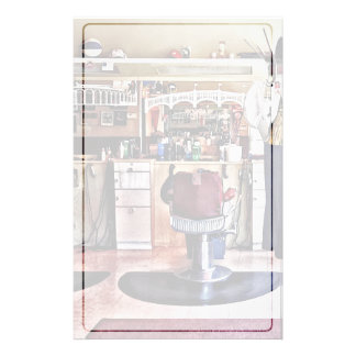 Barbershop With Coat Rack Personalised Stationery