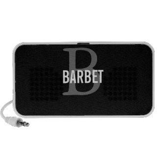 Barbet Monogram Design Travelling Speaker