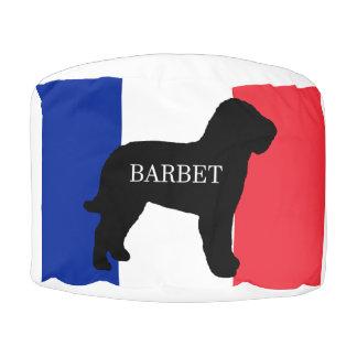 barbet name silo France flag Pouf