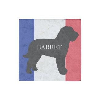 barbet name silo France flag Stone Magnet