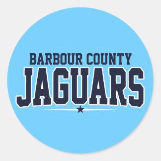 Barbour County High School; Jaguars Round Sticker