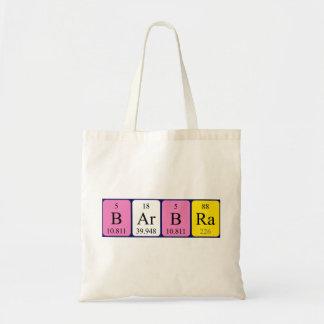 Barbra periodic table name tote bag