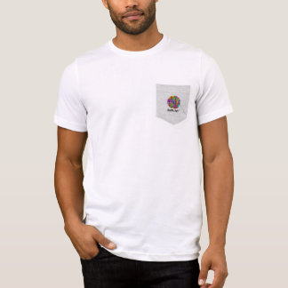 BARBU ART Men's Bella+Canvas Pocket T-Shirt, White T-Shirt