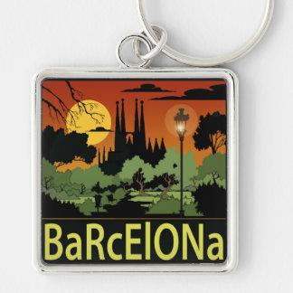 "Barcelona (2.00"") Premium Square Keychain"
