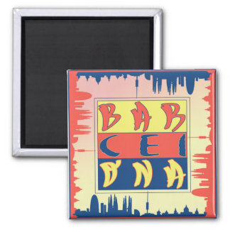 Barcelona 2 Inch Square Magnet