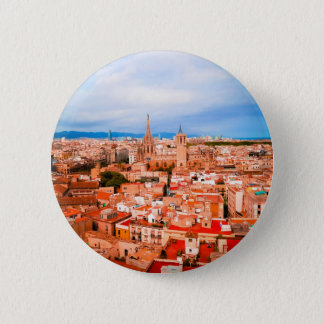 Barcelona 6 Cm Round Badge