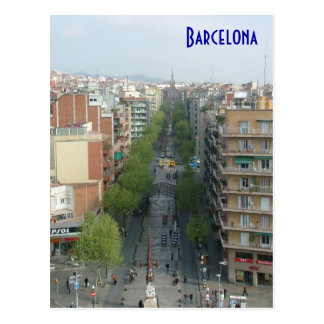 Barcelona Aerial Postcard
