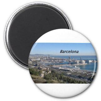 barcelona--aerialview--[kan.k].JPG 6 Cm Round Magnet