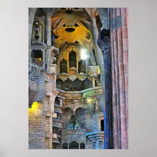 Barcelona. Antoni Gaudi. Sagrada Familia Poster