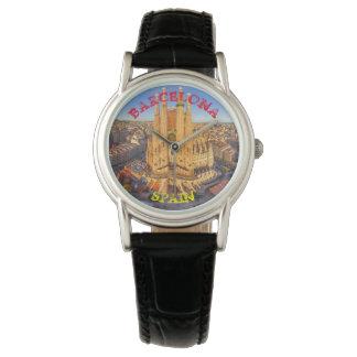 Barcelona Black Leather Watch