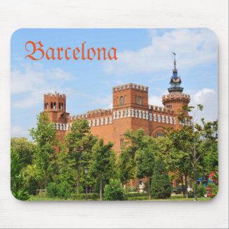 Barcelona castle mouse pad