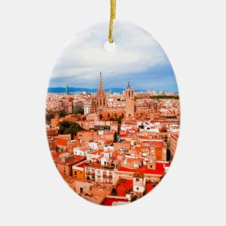 Barcelona Ceramic Oval Decoration