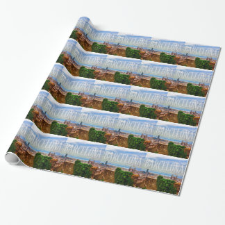Barcelona city wrapping paper
