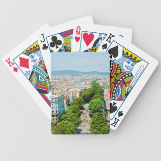Barcelona from above bicycle playing cards