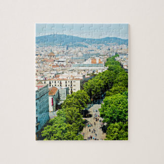 Barcelona from above jigsaw puzzle