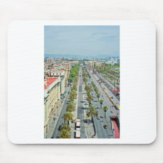 Barcelona from above mouse pad