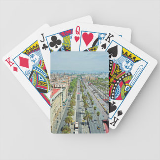 Barcelona from above poker deck