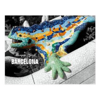 Barcelona Gaudi Park Guell Postcard