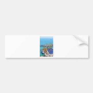 Barcelona harbour bumper sticker
