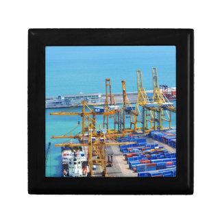 Barcelona harbour gift box
