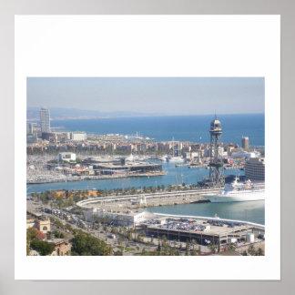 Barcelona Harbour Poster
